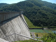 Hydroelectric dam. Of Bicaz, Romania stock images