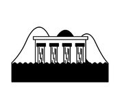 Hydroelectric dam isolated icon. Illustration design Royalty Free Stock Photography
