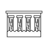 Hydroelectric dam isolated icon. Illustration design Stock Image