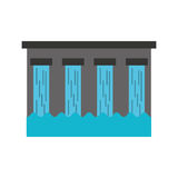 Hydroelectric dam isolated icon. Illustration design Stock Photography