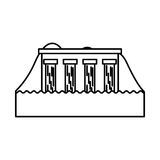 Hydroelectric dam isolated icon. Illustration design Stock Photos