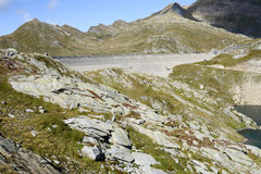 Hydroelectric dam of Naret on Maggia valley Stock Images