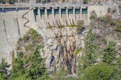 Hydroelectric Dam. Panoramic view. La Viña dam, Cordoba, Argentina royalty free stock photography