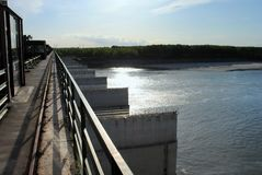 Hydroelectric dam on the river Stock Image