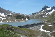 Hydroelectric dam, Switzerland Royalty Free Stock Photography