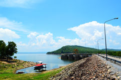 Hydroelectric dam, thailand. Hydroelectric dam,blue sky Ubolrat thailand Royalty Free Stock Image