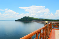 Hydroelectric dam, thailand. Hydroelectric dam,Ubolrat thailand blue sky Stock Photography