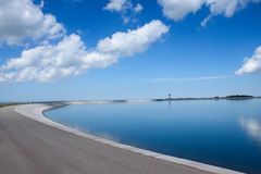 Hydroelectric plant - artificial lake Stock Image