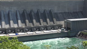Hydroelectric plant stock video