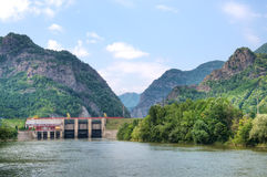 Hydroelectric  power plant Royalty Free Stock Photos