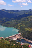 Hydroelectric power plant on Drina river. Landscape stock image