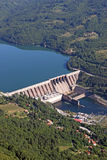 Hydroelectric power plant on Drina river. Landscape royalty free stock photography