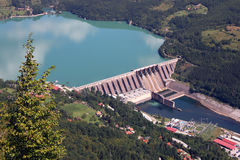Hydroelectric power plant on Drina river. Serbia royalty free stock image