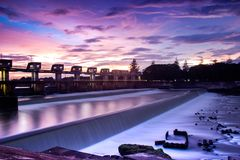 Hydroelectric power plant. At indonesia east java royalty free stock photo