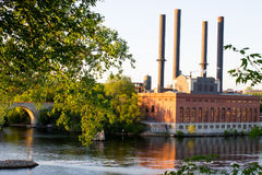 Hydroelectric Power Plant, Minneapolis Minnesota Stock Photo