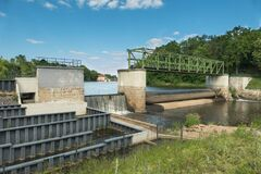 Hydroelectric Power Plant On The Bóbr River. Royalty Free Stock Images