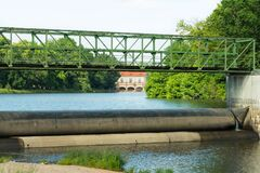 Hydroelectric Power Plant On The Bóbr River. Royalty Free Stock Photography