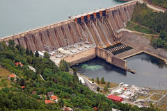 Hydroelectric power plant Perucac. On Drina river stock image