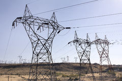 Hydroelectric Power Plant Relay Towers Stock Photo