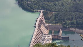 Hydroelectric power plant stock video footage