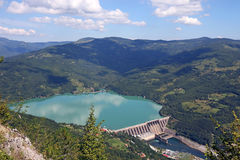 Hydroelectric power plant on river landscape Stock Photography