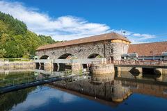 Hydroelectric power plant Rudolf-Fettweis at the river Murg Royalty Free Stock Photo