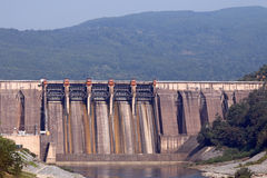 Hydroelectric power plants Stock Images