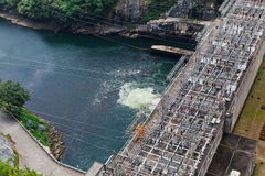Hydroelectric power production of Bhumibol dam Royalty Free Stock Images