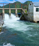 Hydroelectric power retro Altai Stock Photo