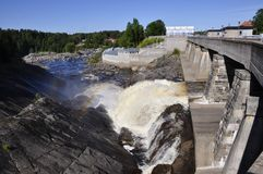 Hydroelectric power station. In Sweden Stock Image