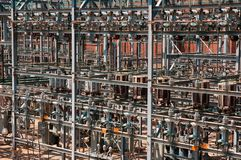 Hydroelectric Power Station. Installation - chaotic view Stock Photos