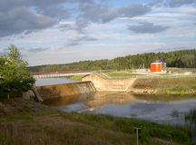 Hydroelectric power station. On the river, Kavarskas, Lithuania Stock Photos