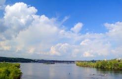 Hydroelectric power station. The river Dnepr. Zaporozhye. Ukraine royalty free stock photos