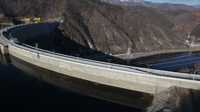 Hydroelectric power station stock video footage