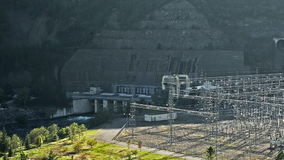 Hydroelectric power station stock footage