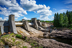 Hydroelectric power station dam in Imatra Stock Images