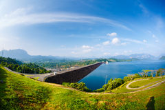 Hydroelectric power station on the lake Cheo Lan Royalty Free Stock Images