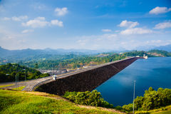 Hydroelectric power station on the lake Cheo Lan Stock Image