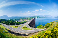 Hydroelectric power station on the lake Cheo Lan Stock Photos
