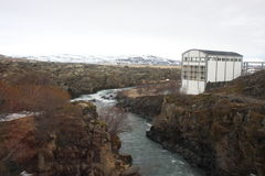 Hydroelectric power station. Part of a Hydroelectric power station on the Laxa River near Husavik, Iceland Stock Photos
