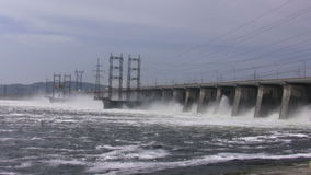 The hydroelectric power station. Time lapse stock video footage