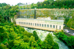 Hydroelectric Power Station on Waikato river, Arapuni, New Zealand.  Stock Photos
