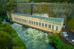 Hydroelectric Power Station on Waikato river, Arapuni, New Zealand.  Stock Images