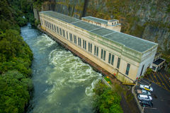 Hydroelectric Power Station on Waikato river, Arapuni, New Zealand.  Royalty Free Stock Image