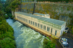 Hydroelectric Power Station on Waikato river, Arapuni, New Zealand.  Stock Image
