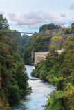 Hydroelectric Power Station on Waikato river, New Zeala Royalty Free Stock Photo