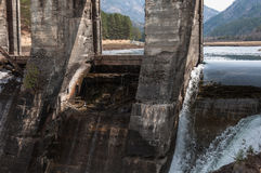 Hydroelectric power station water flow Royalty Free Stock Photo