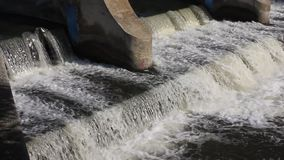 Hydroelectric power station stock video
