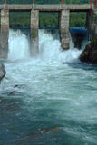 Hydroelectric power water flow Stock Photo