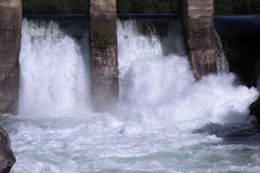 Hydroelectric power water flow Stock Photos